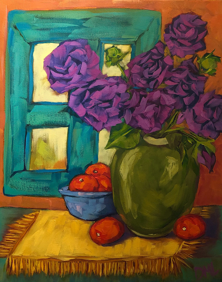 Dawn Lomako: Purple Roses
