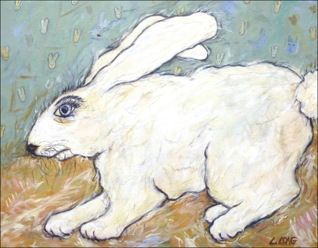 Lesley Long: Rabbit on Rabbits