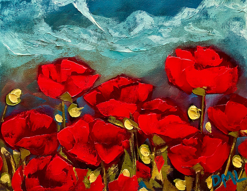 Dawn Lomako: Red Poppies