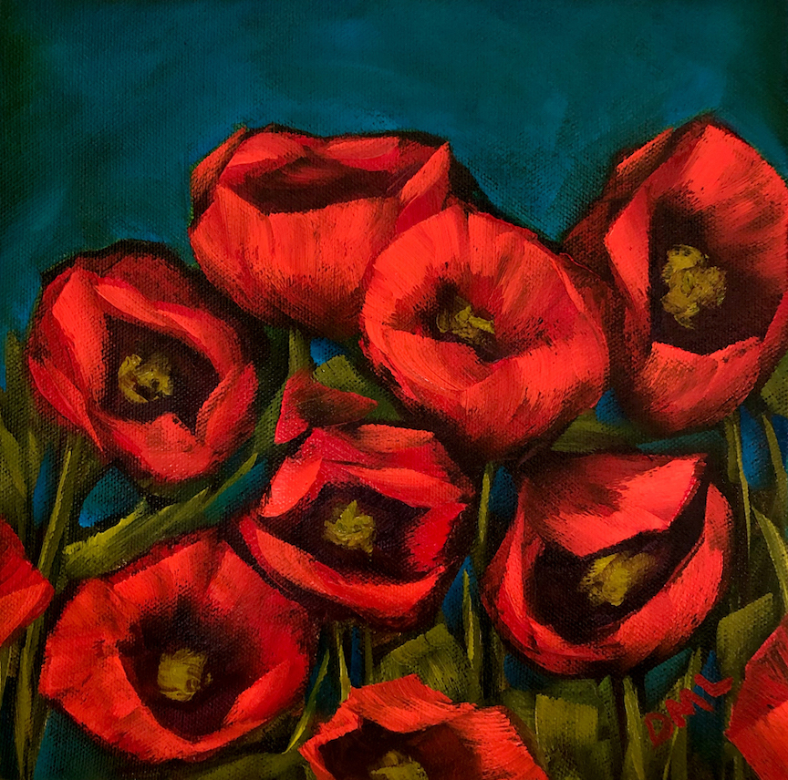 Dawn Lomako: Scarlet Poppies
