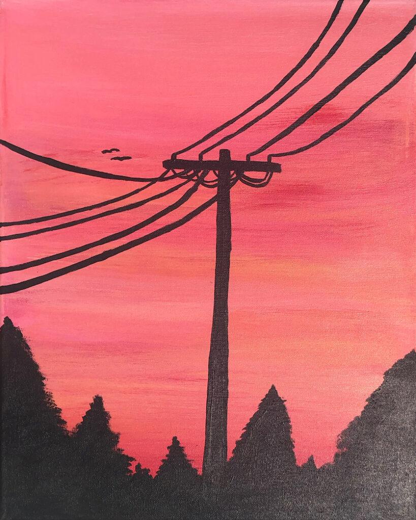 Shauna Clark: Peachy Sunset