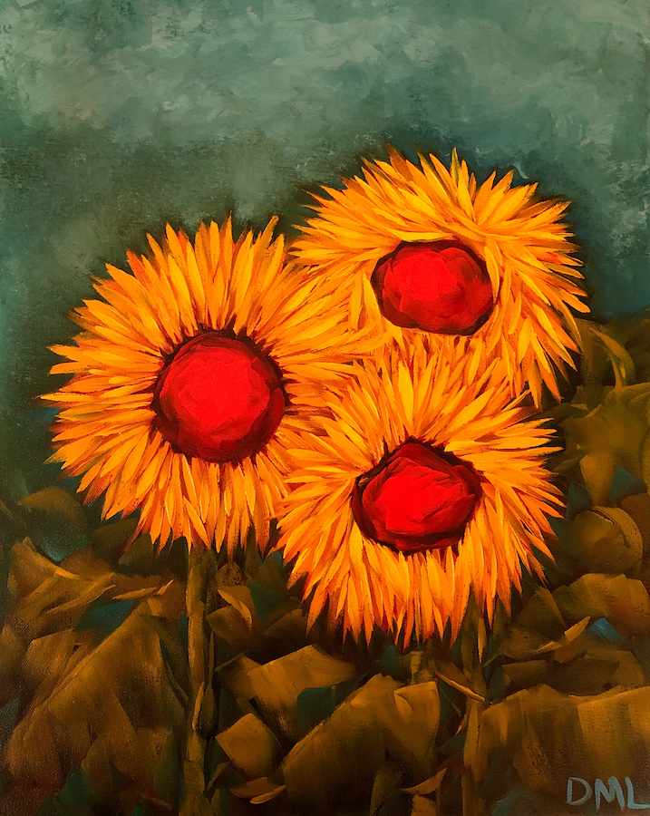 Dawn Lomako: Sunflower Family Portrait