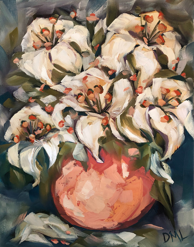 Dawn Lomako: White Lilies