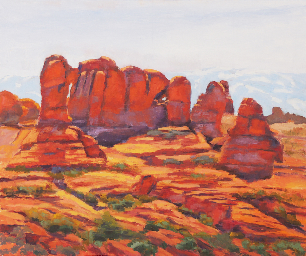 Lyle H. Brown: Arches at Sunset