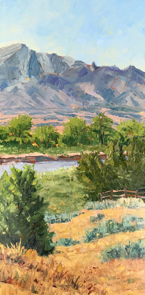 Carol Ordogne: Bernalillo View of Sandias