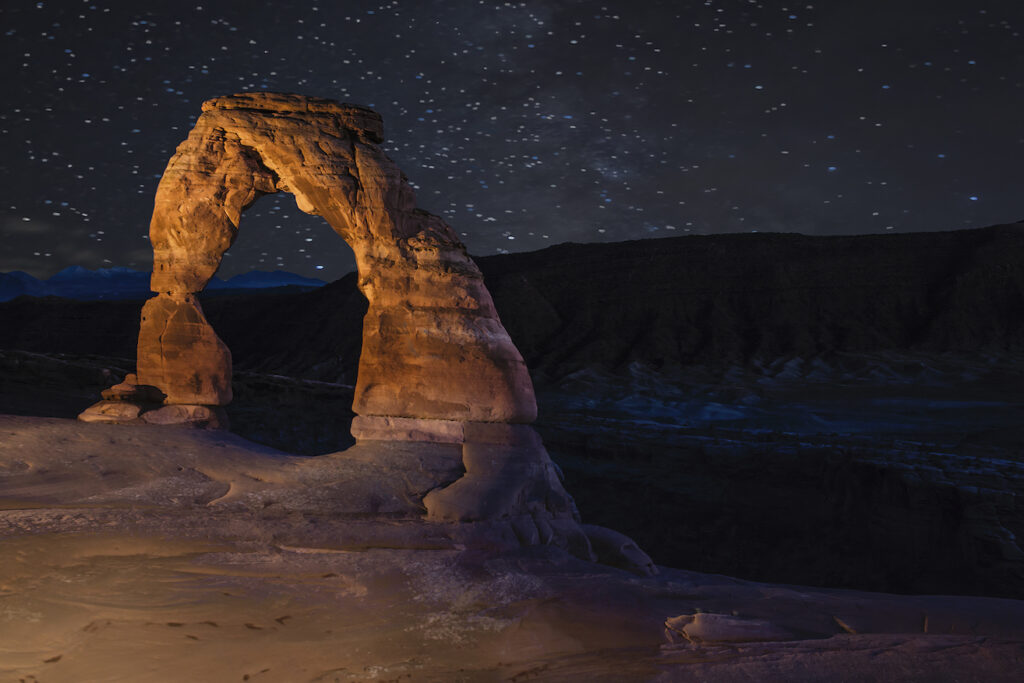 Mike Stephens: Delicate Arch Light Painted