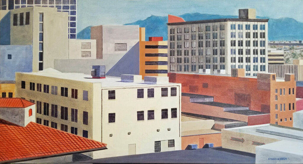 Chuck Gibbon: Downtown Roofs