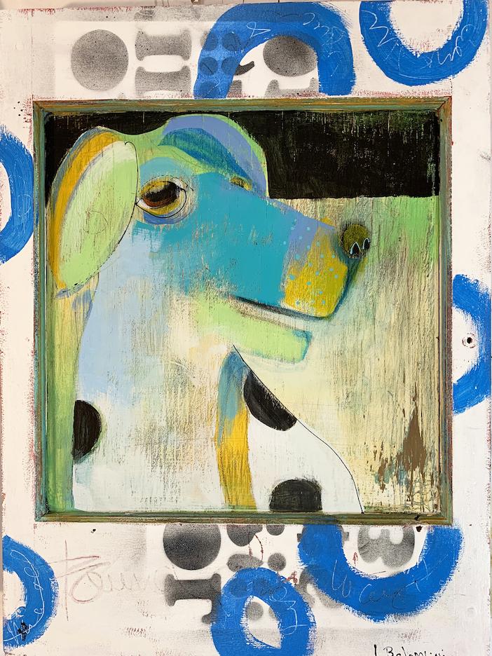 Laura Balombini: Kitchen Dog I