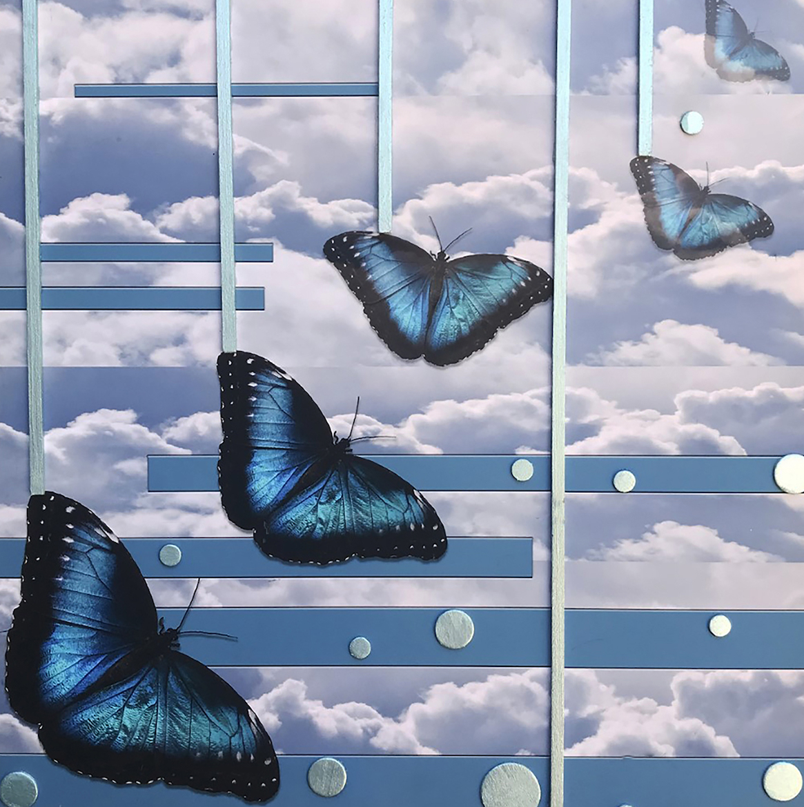 Andrea J. Sharon: Metamorphosis-Blue Morpho