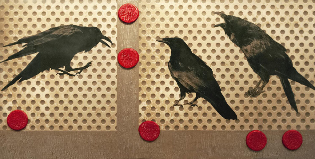 Andrea Sharon: Ravens and Red Dots I