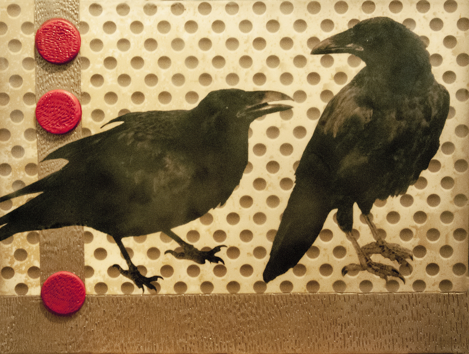 Andrea Sharon: Ravens and Red Dots III
