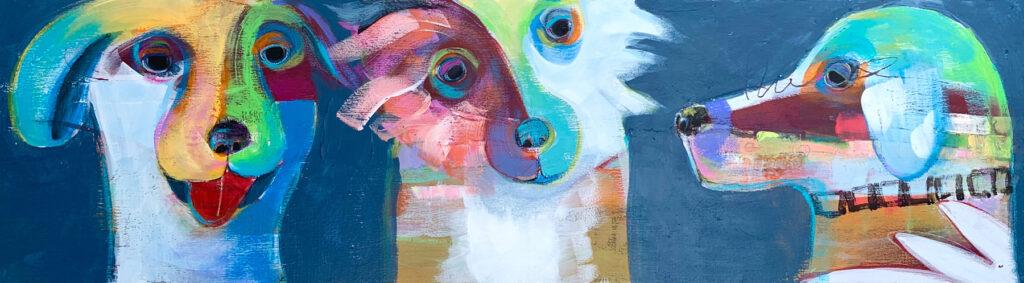 Laura Balombini: Three Dogs Blue