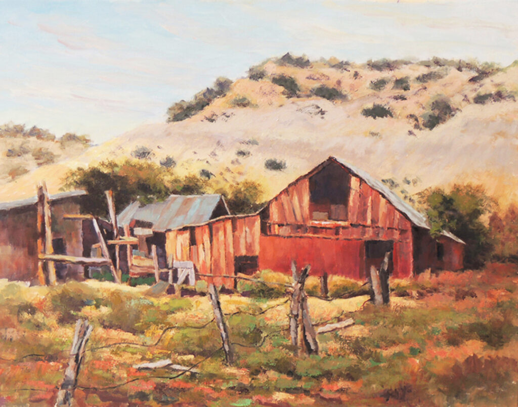 Lyle H. Brown: Weathered Red Barn