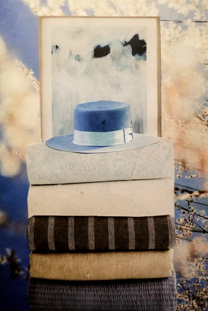 Elizabeth Burton: Blue and Beige
