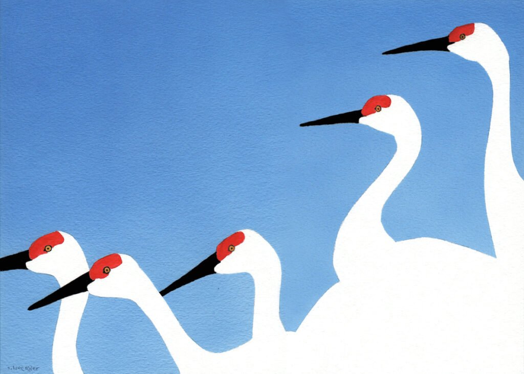 A. Leon Miler: Blue Sky Cranes 3