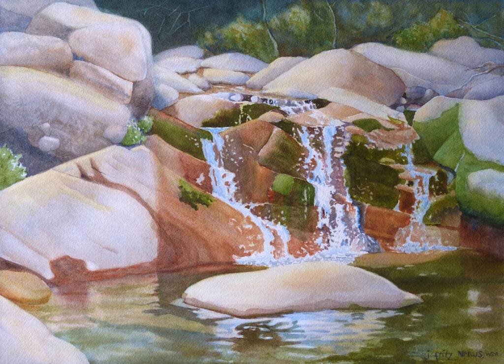 Jane Fritz: Falls in Porvenir Canyon