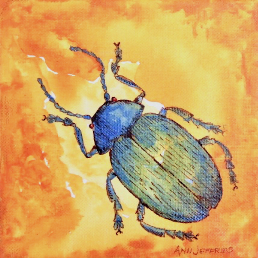 Ann Jeffries: Green Scarab Beetle