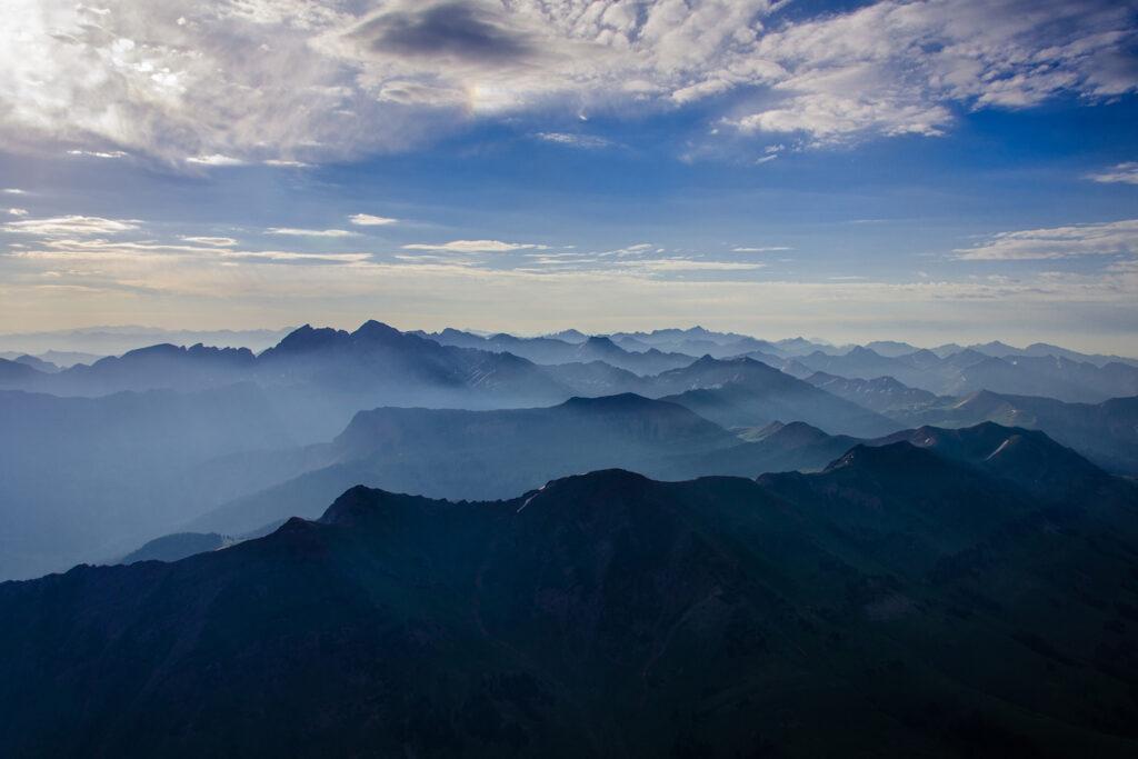 Paul Dressendorfer: Misty Rocky Mountain Ridges