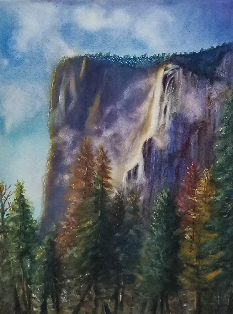 Barbara McGuire: Misty Yosemite Sunset
