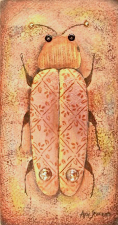 Ann Jeffries: Pink Glass Fantasy Beetle