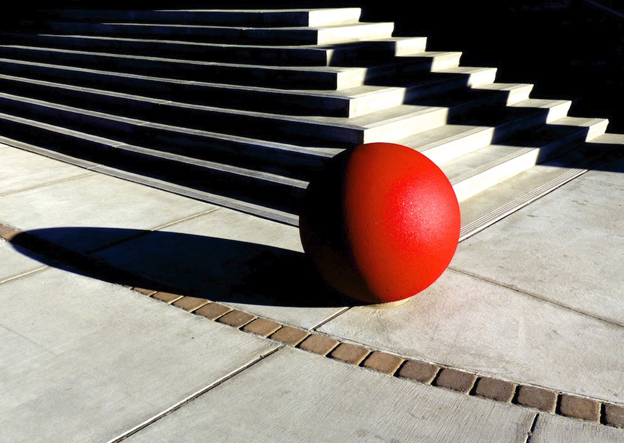 Dan Shaffer: Red Ball (long shadow)