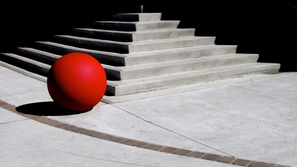 Dan Shaffer: Red Ball (short shadow)