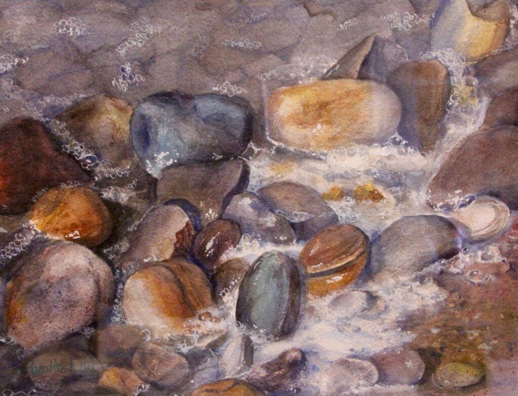 Pam Hostetler: River Rocks