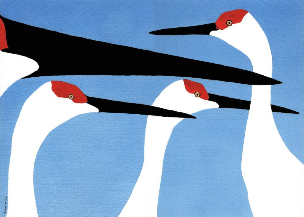 A. Leon Miler: Blue Sky Cranes 1