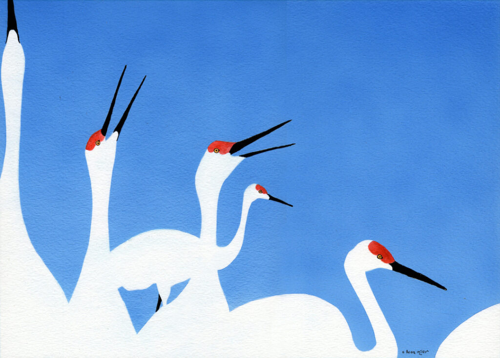 A. Leon Miler: Blue Sky Cranes 4