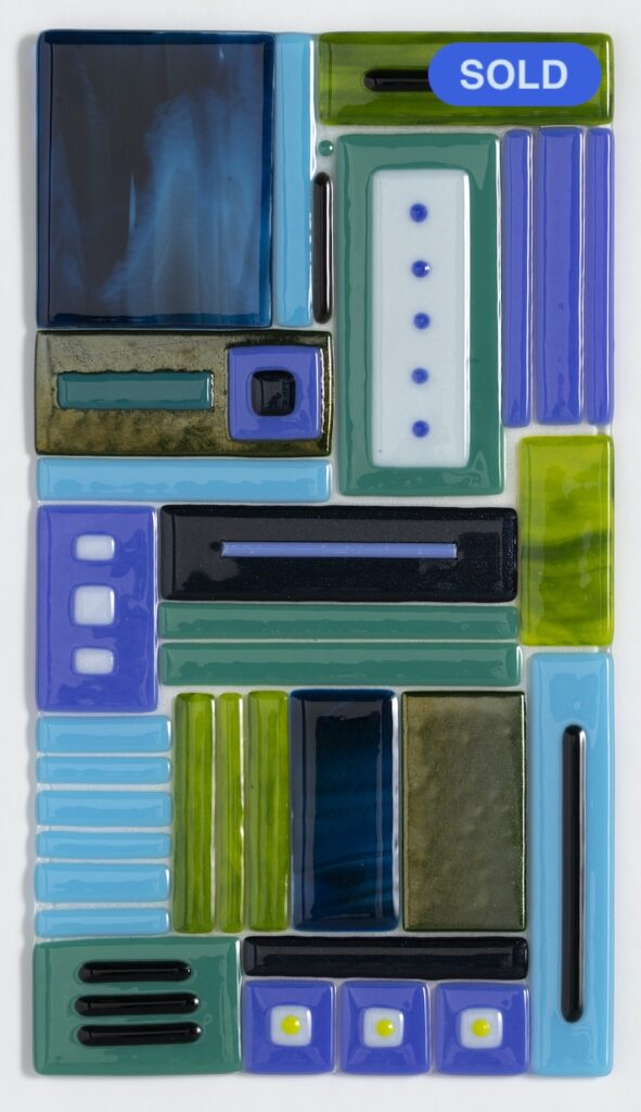 SOLD - Carol Lutz: Blue/Green Mix #1