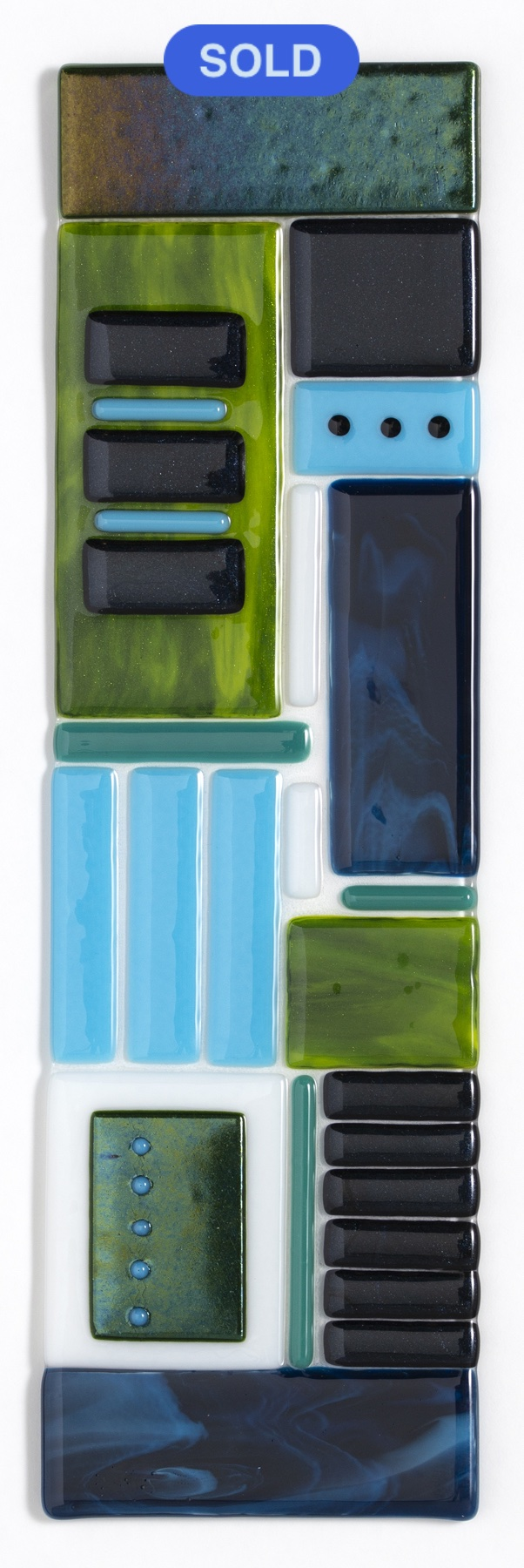 SOLD - Carol Lutz: Blue/Green Mix #2