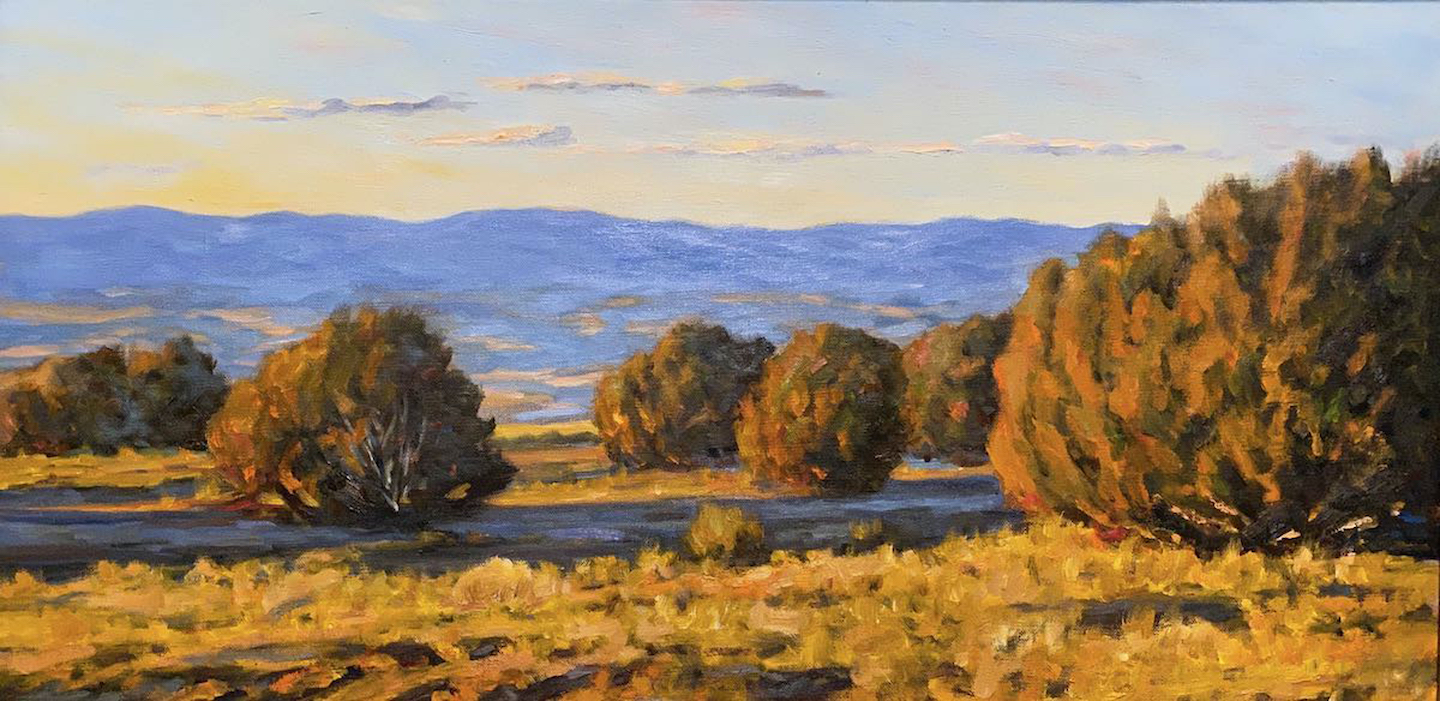 Jemez Mountains Late Sun - Oil on Linen