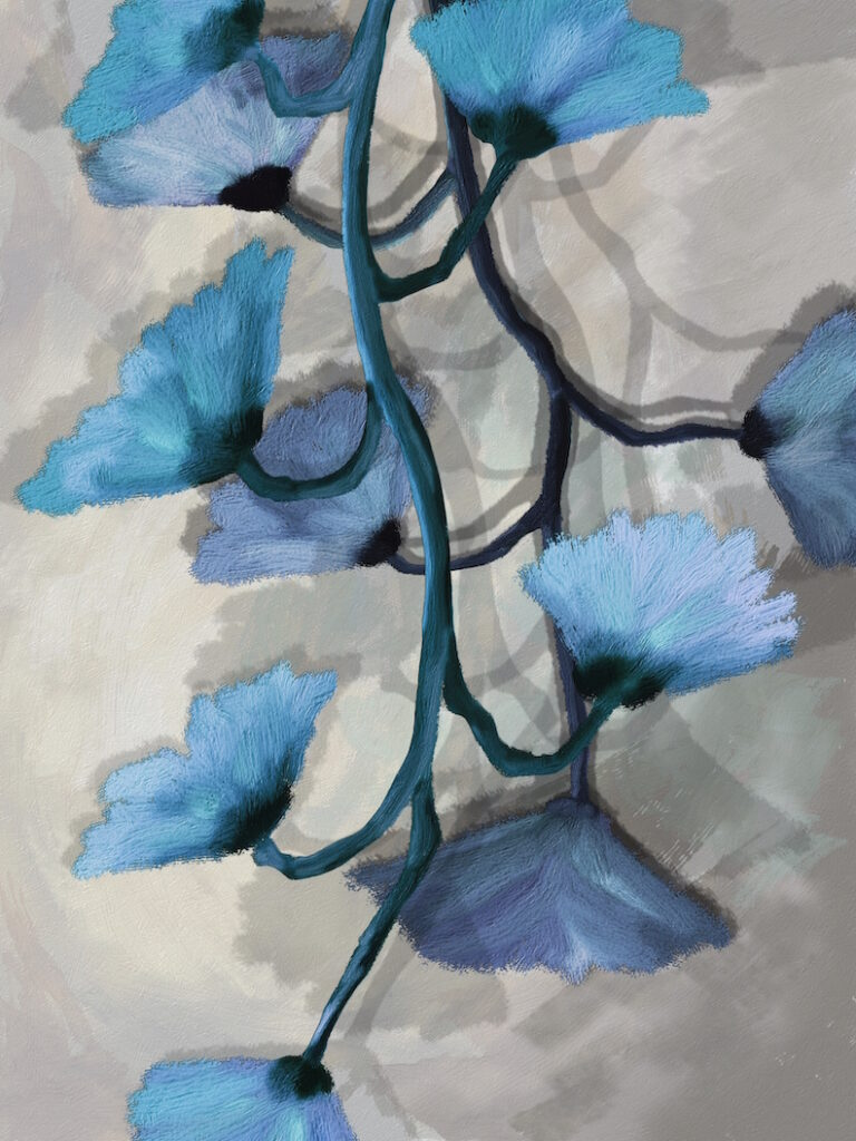David Henderson: Blue Flower