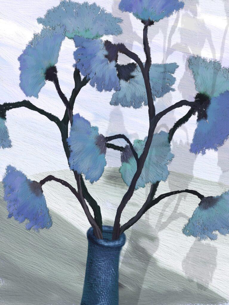 David Henderson: Blue Vase