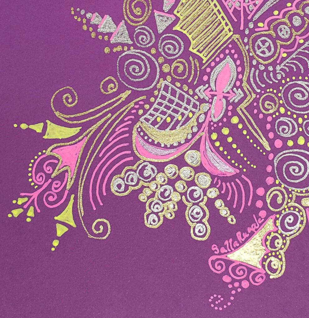 Sally Rugala: Celebration Abstract