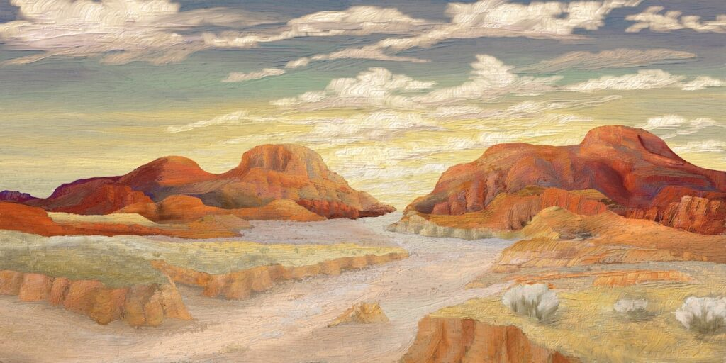 David Henderson: Desert Evening