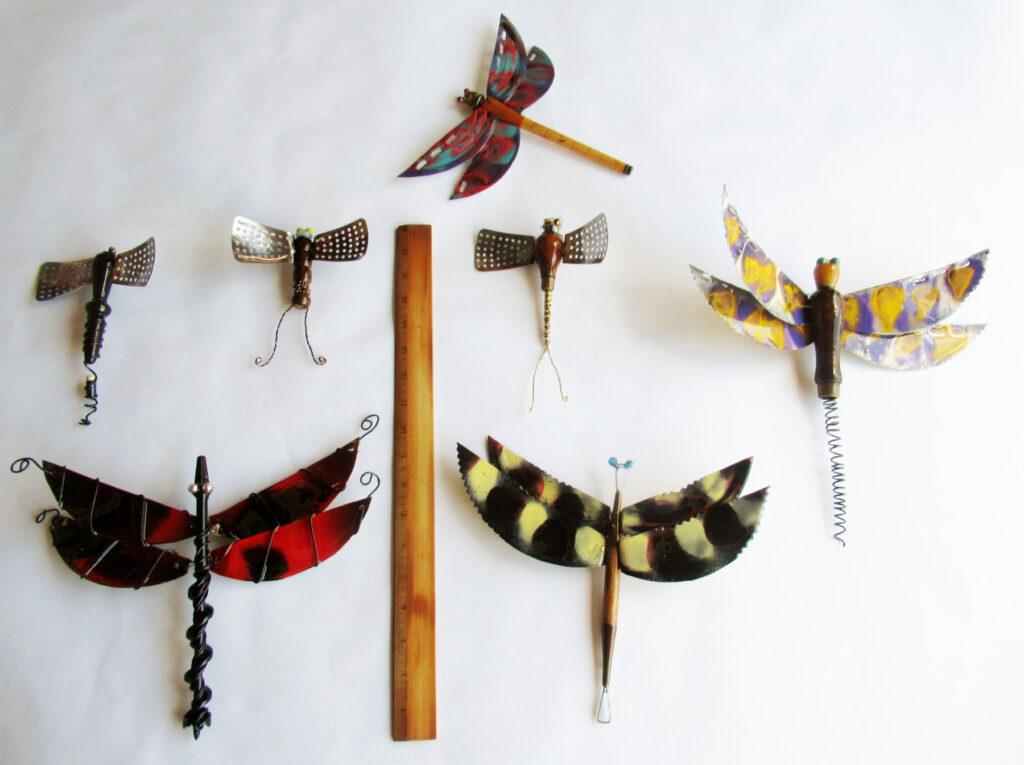 John Bumkens: Set of Dragonflies