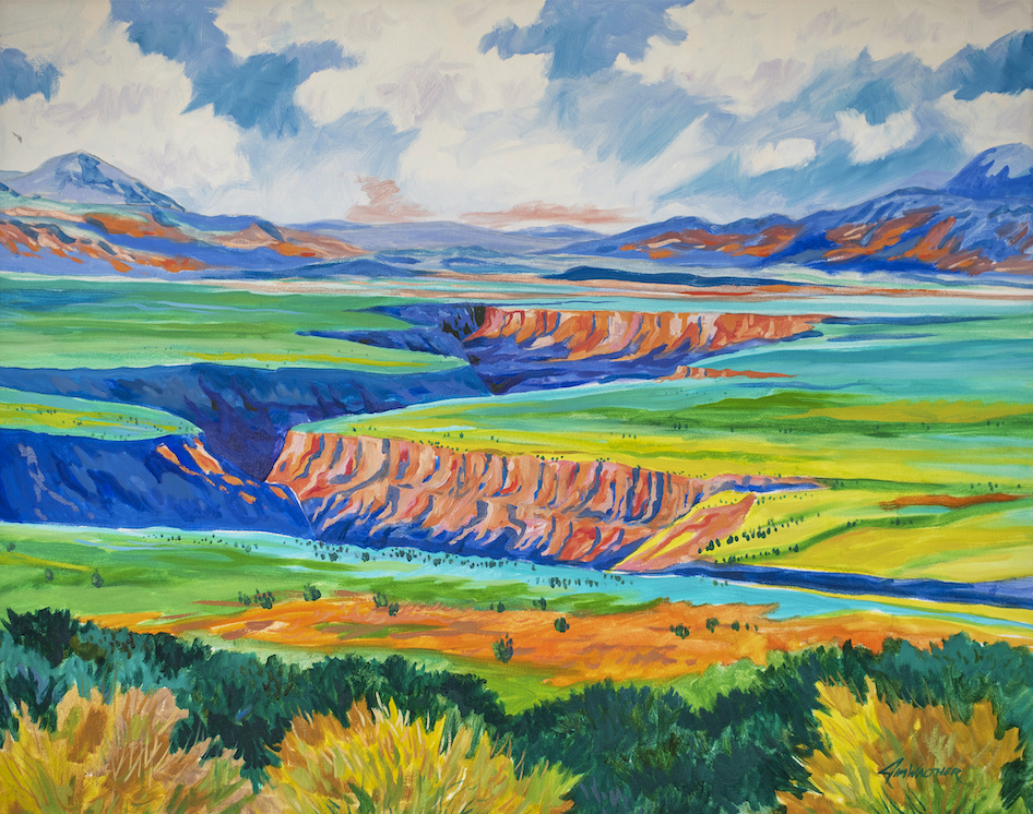 Jim Walther: Springtime on Taos Gorge