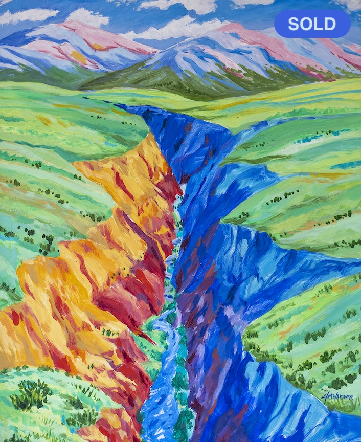 SOLD - Jim Walther: Taos Gorge Dream