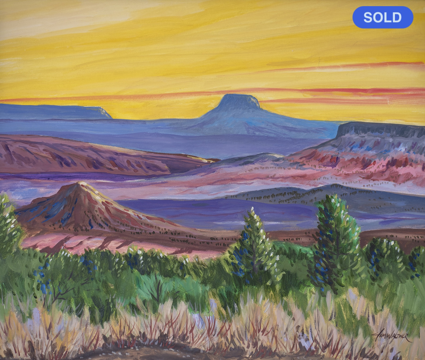 SOLD - Jim Walther: The Pedernal