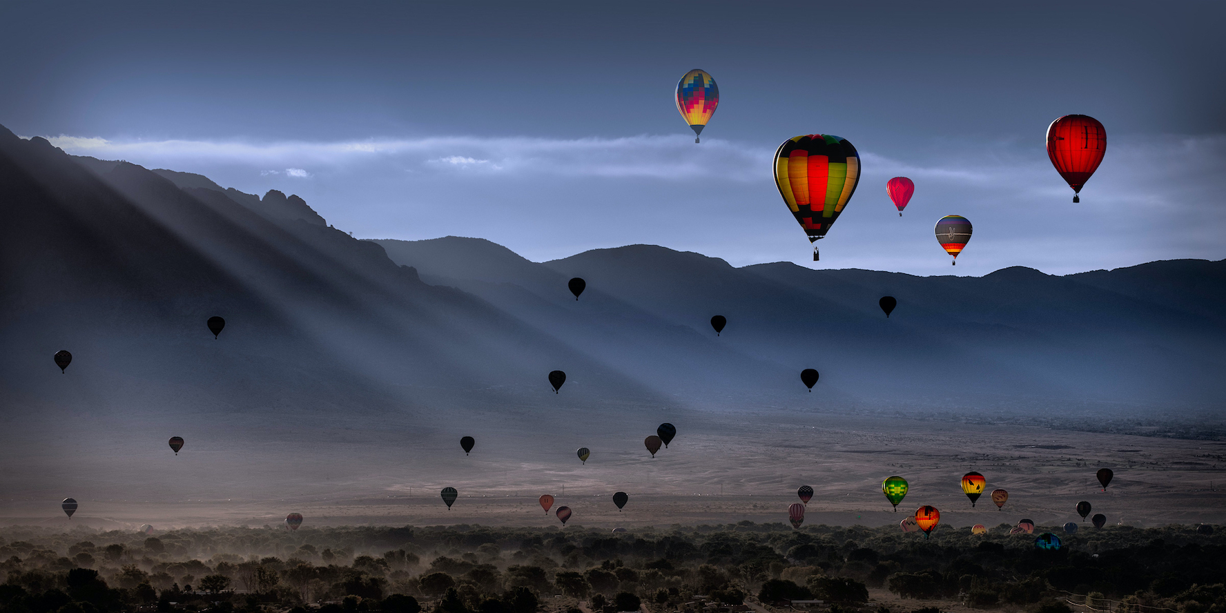 Dennis Chamberlain: Balloon Fiesta Morning II