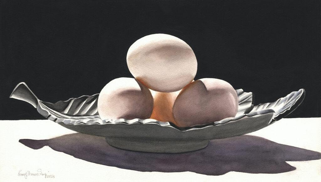 Penny Thomas Simpson: Eggs on a Leaf