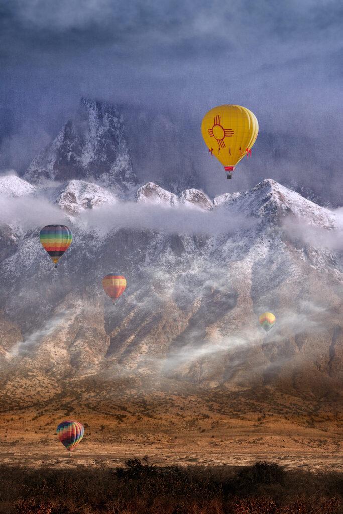 Dennis Chamberlain: Misty Morning Balloon Ride