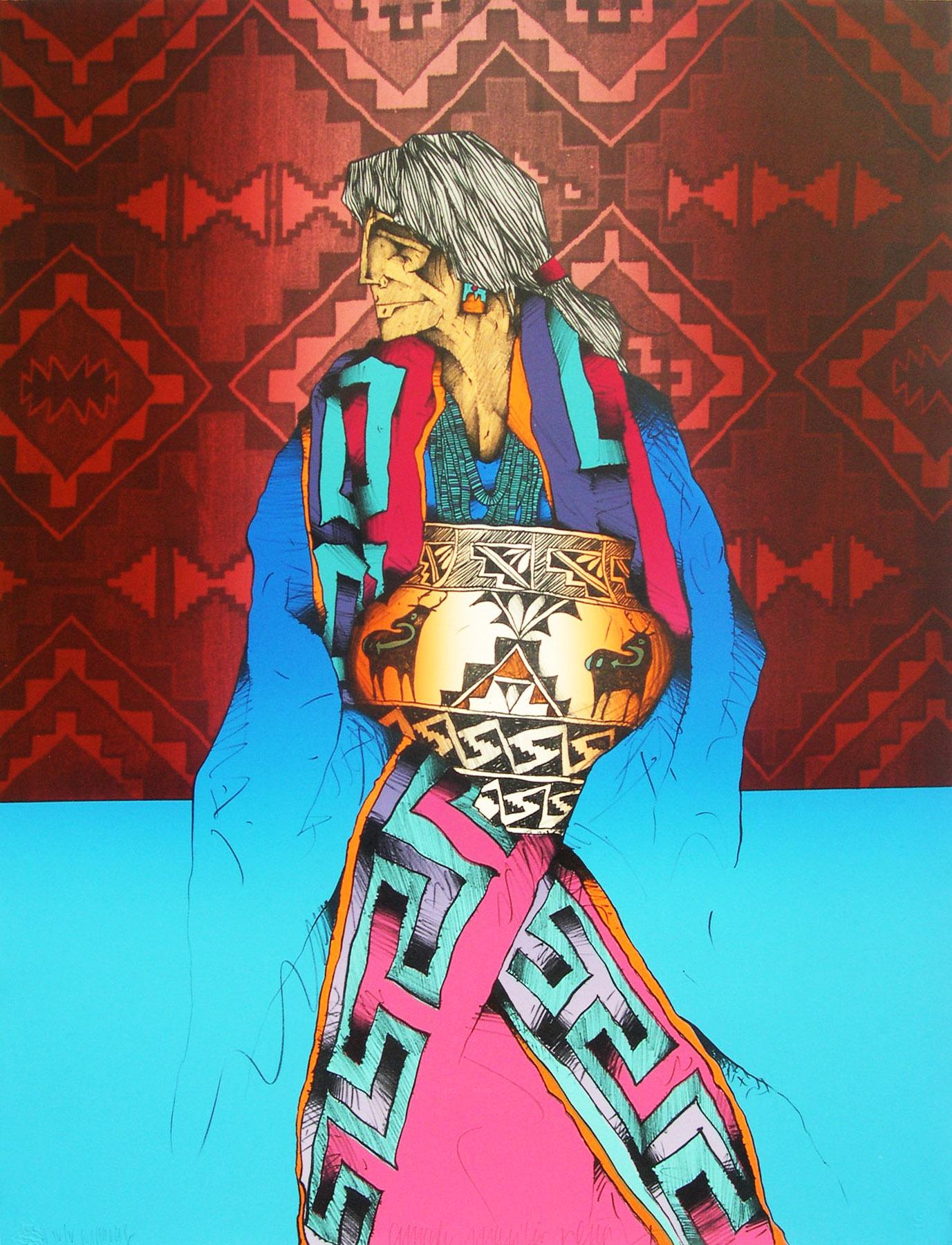 Amado M. Peña Jr: Olla Series, Patrones en Colores IV/VII