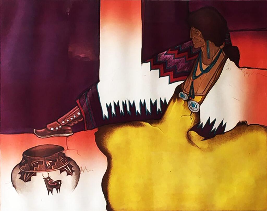 Amado M. Peña Jr: Olla Series: Venado de Acoma 5/40