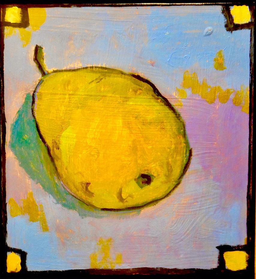 Santiago Perez: Pear (Gold Squares)