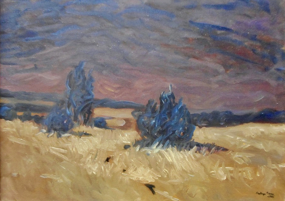 Santiago Perez: Purple Skies