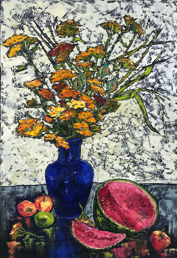 Vera Neel: Still Life with Blue Vase