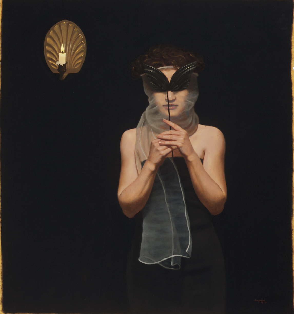 Dan Griggs: Young Woman with Crow's Wing Mask