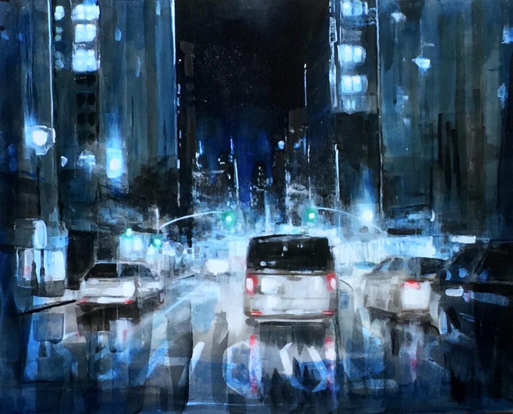 George H Hayes III: NY Street Blue